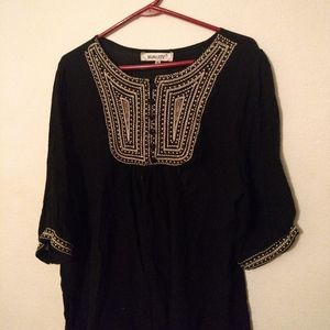 Black embroidered shirt
